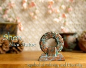 RESERVED for Adrienne - Shen Symbol Altar Icon - Symbol of Infinity and Eternity - Handcrafted Altar Piece with Copper Pigment Patina Finish
