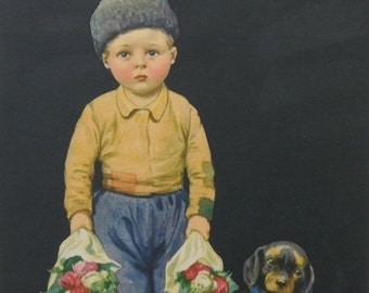 MOVING SALE Little Dutch Boy Print