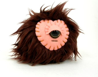Stuffed Monster Toy - Cyclops Monster - Fabric Toy Ball - Small Stuffed Monster - Kawaii Plush Monster - Children's Toy - Toy Ball