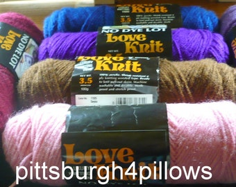 6 - Vonnel - Love Knit Yarn  - 3.5 Ozs. -  See Description - Discontinuted - Price Is For All - Read Discription