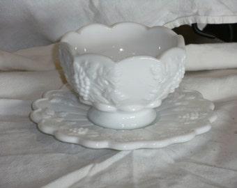 Vintage Westmoreland Bowl and Plate
