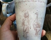 Pottery cup illustrated and bible verse  3John 1:4 .100% proceeds for Children's school AFRICA