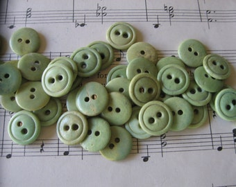 Antique Dyed Vegetable Ivory or Bone Buttons..circa 1900...new old stock...lot/30