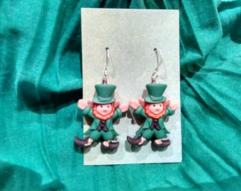 st patricks earrings, st patricks day earrings, st patricks jewelry, st patricks day, leprechaun jewelry, luck of the irish jewelry, lucky