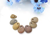 Top Drilled Rare Beach Stones Top Drilled, Big Hole Multicolor Mix Pebbles, Jewelry Supplies Medium Stones, Jewelry Making Set