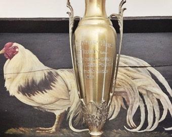 SALE Huge Vintage 1925 Baltimore Poultry Show Trophy