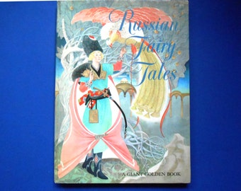 Russian Fairy Tales, Vintage Children's Book, a Giant Golden Book