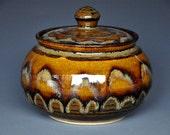 Tawny Sunset Handmade Sugar Bowl Ceramic Sugar Bowl Pottery Jar Ceramic Jar Stoneware Jar B
