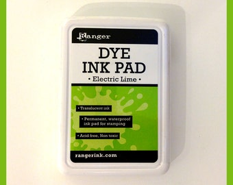 Electric Lime Dye Ink Pad, Ranger, Light Green