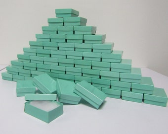 100 Pack Teal Blue Boxes (3.25 x 2.25 x 1 in) // ECONOMY SIZE //