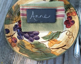 Slate Place Cards set of four