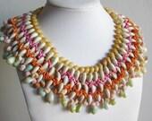 Vintage Necklace 40s Exotic Hawaiian Wedding Ceremonial Shell Collar Lei Necklace