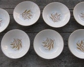 homer laughlin golden wheat  bowls 5 3/8 inches set  of 7 duz detergent giveaway mid century dining country kitchen farmhouse kitchen
