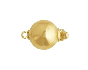 14K Yellow or White Goldl Bead Safety Clasp