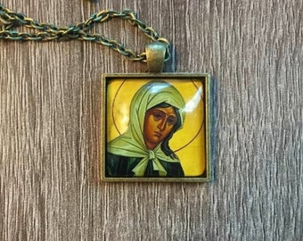 St. Xenia of St. Petersburg Icon Necklace
