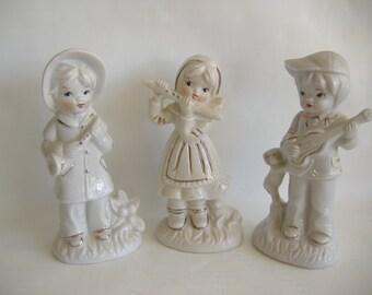 Three Porcelain Child Musicians