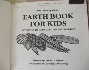 Earth Book For Kids Environment Activities Conservation