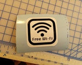 wifi spot / free wifi / vinyl sign / decal / social networking / social media