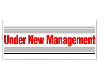 Under New Management Banner / custom banner / Now open banner / custom color / new business banner / vinyl banner / decal banner