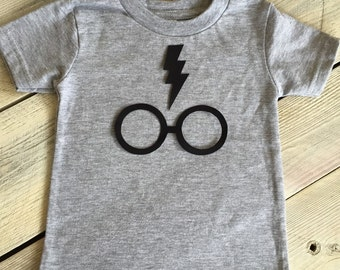 Iron On Harry Potter Inspired Glasses and Lightning Bolt Applique DIY