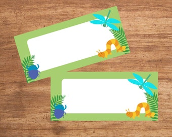Instant Download Insect Party Tent Cards Seating Cards