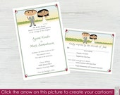 Vineyard Wedding Invitations and RSVP Cards – Set of 10 - Create a Cartoon You!