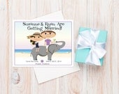 Thailand Wedding Save the Dates  ~ Starring You and Your Groom as a Cartoon!