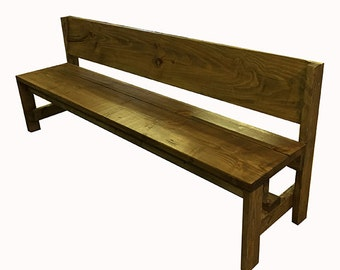 5 foot Bench with back