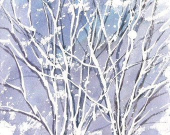 Small Format Winter 2016- 5.5x7.5inches original watercolor painting