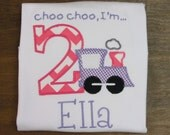 GIRLS Train Birthday Shirt, You Design