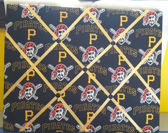Pittsburgh Pirates Fabric Covered Photo Memory Board