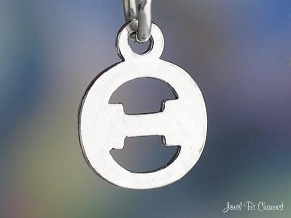 Small Theta Charm Sterling Silver Greek Letter Fraternity Sorority 925