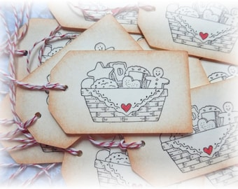 Basket of Cookies - baking tags- homemade with love- Tags (6)