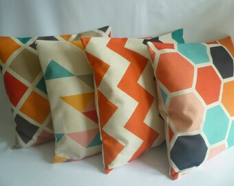 "4 x 18"" ZIP Decorative Geometric Pillow Covers Designer Linen Multi Color Pillows Cushion Covers Throw Scatter Pillows"