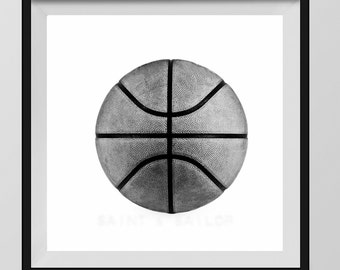 Basketball Photo Print Black and White, Decorating Ideas, Wall Decor, Wall Art,  Kids Room, Nursery Ideas, Gift Ideas,