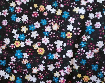 Cotton jersey with flowers