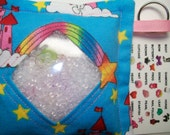 I Spy Bag Castles and Rainbows Girls themed contents seek and find party favor autism sensory occupational therapy