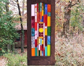 Beautiful Hanging Stained Glass suncatcher glass art gift stained glass panel home decor art glass stained glass window