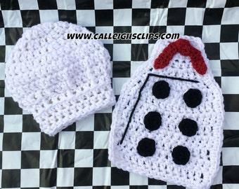 Instant Download Crochet Pattern No. 122 - Chef Cuddle Cape Set