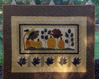 Autumn Garden, A Mini Quilt