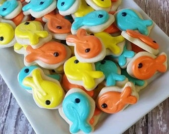 Mini Fish sugar cookies