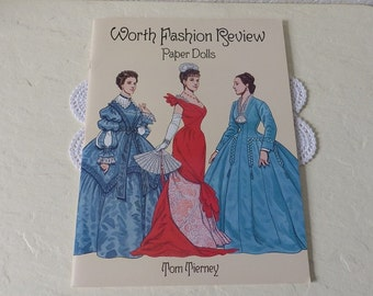 Paper Doll Booklet, Worth Fashion Review, Tom Tierney, 1996. Uncut