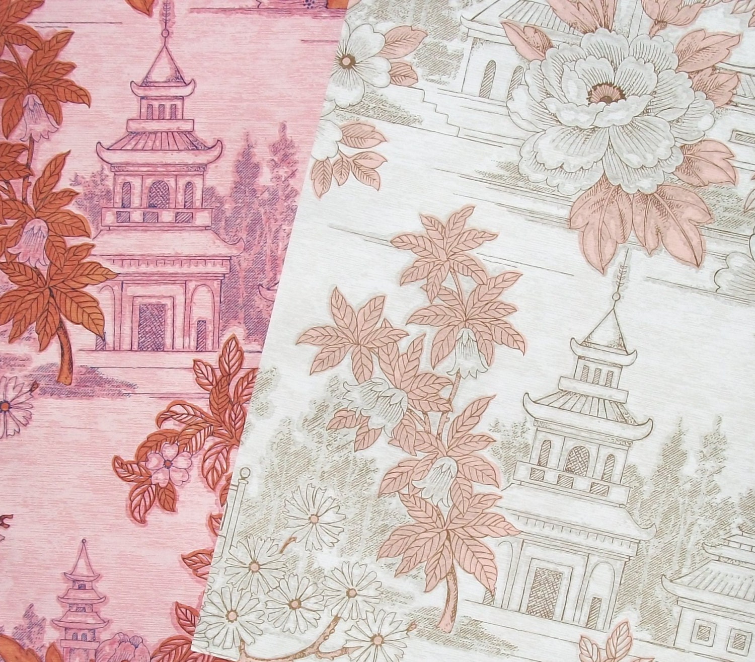 Vintage french wallpaper chinoiserie paper teahouses august for Old french wallpaper