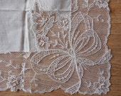 Best Austrian Lace Wedding Handkerchief Hankie New Old Stock