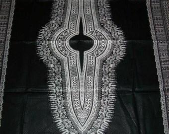 Wholesale Black with White dashiki fabric 6 yards Textured Cotton Print/Angelina fabric/ Black dashiki dress/Dashiki skirt/Dashiki Top