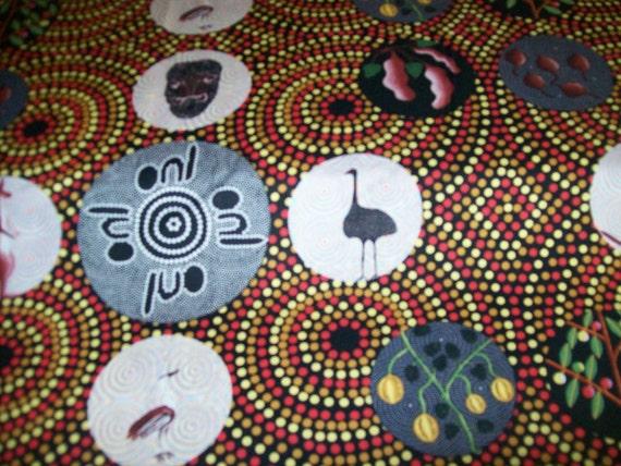 Per Yard Aboriginal Fabric 100 Cotton Bush Tucker With