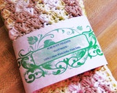 Spring Green~ Beige and Cream~~Crochet SPA WASHCLOTHS/ DISHCLOTHS~~100% Cotton~~Set of 3 X Large~~So Soft and pretty