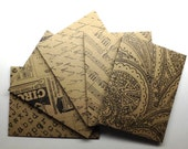 Pattern Kraft Mini Envelopes set of 5/ #4 - Handmade envelopes, Office supplies, Kraft card stock