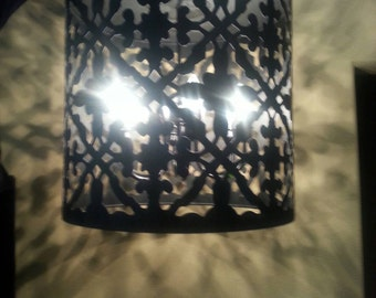 Black or Brown drum chandelier