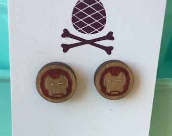 Iron Man inspired earrings